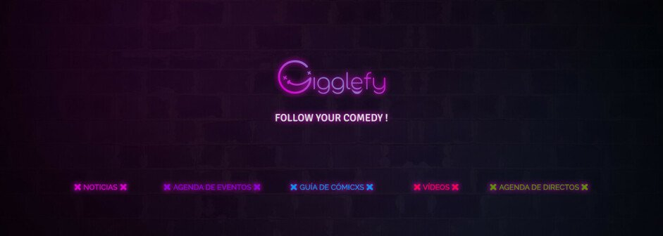 Gigglefy: Follow your comedy! Banner